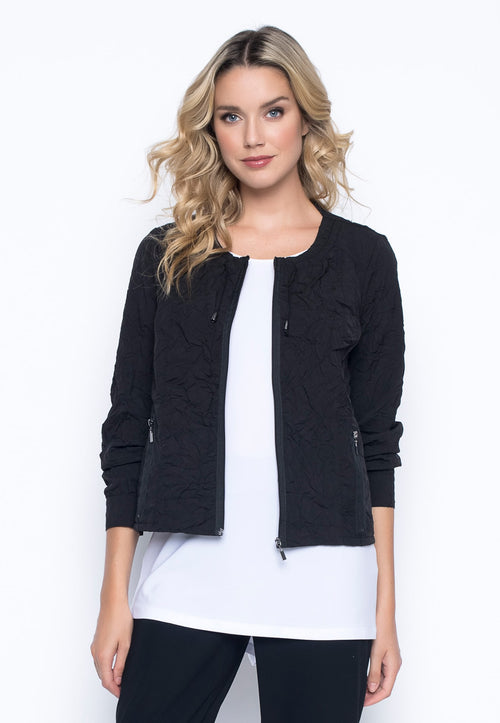 Zip-Front Jacket With Drawstrings by Picadilly Canada