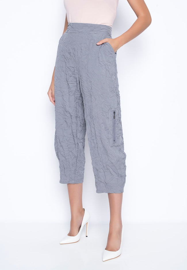 Side-Pockets Balloon Pants in grey by Picadilly Canada