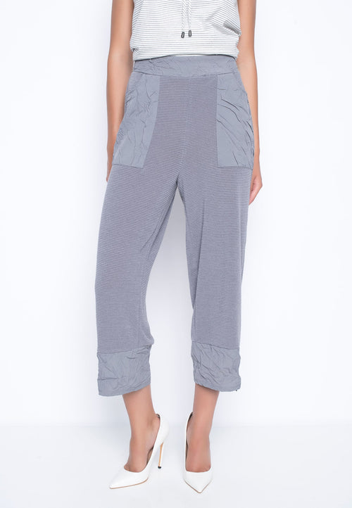 Zipper Trim Wide Leg Pants by Picadilly Canada