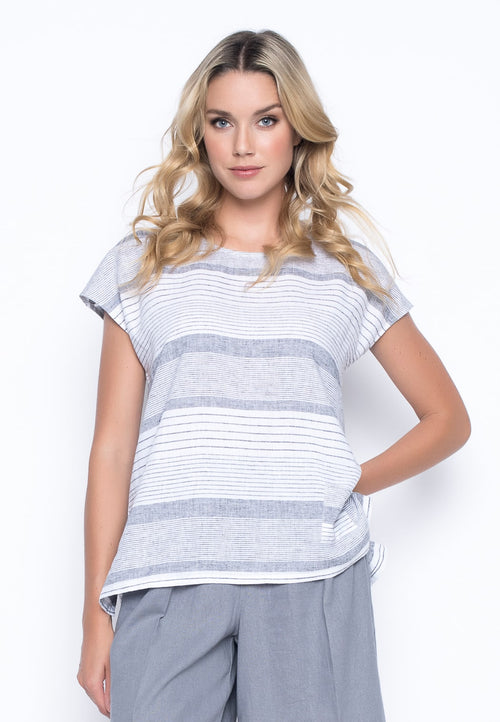 1 Pocket Top With Side Slits by Picadilly Canada