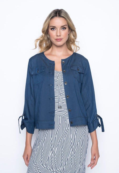 Button Front Jacket with Pockets by Picadilly canada