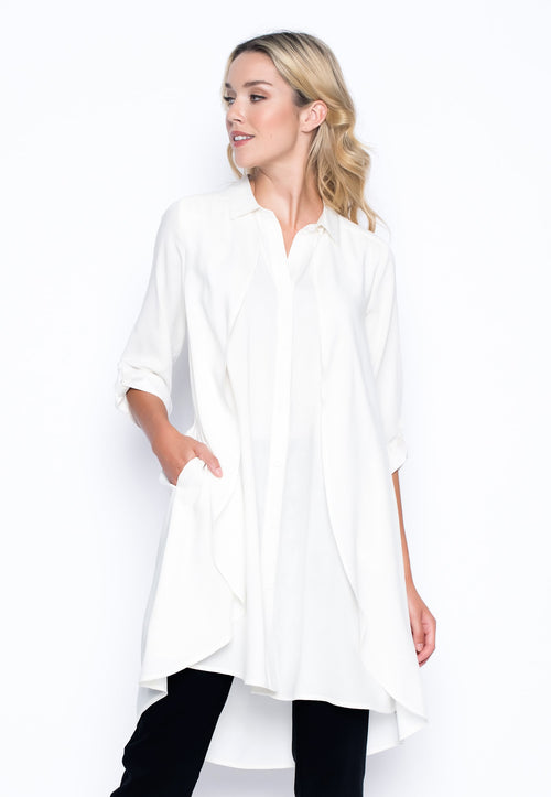 ¾ Sleeve Overlapping Shirt by picadilly canada