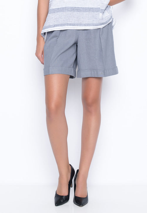 Shorts With Pleated Detail by Picadilly Canada