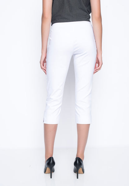 Capri With Side Slits in white bacview by Picadilly Canada