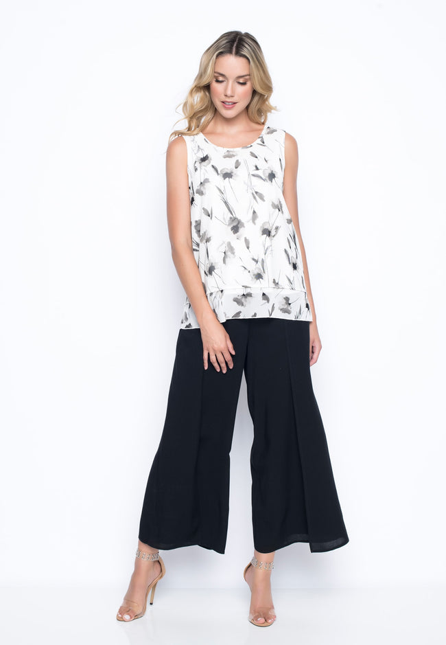 outfit featuring the Flowy Wrap Front Pants by Picadilly canada