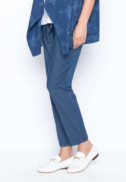 Pull-On Drawstring Pants with Patch Pockets