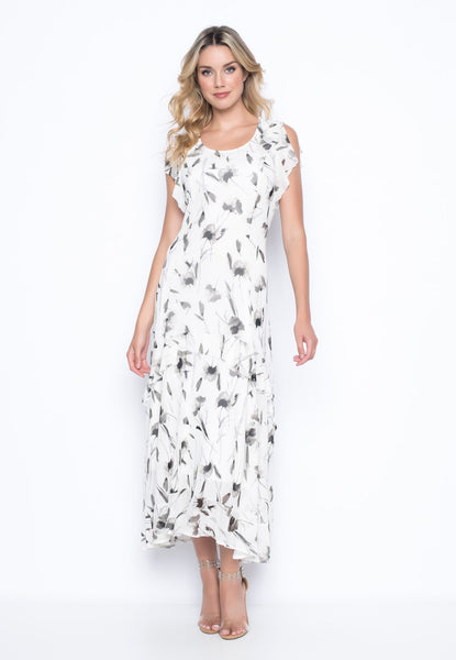 Wildflower Ruffle Trim Dress By Picadilly Canada