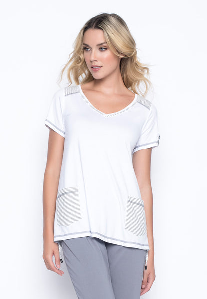 V-Neck Short Sleeve Top by Picadilly Canada