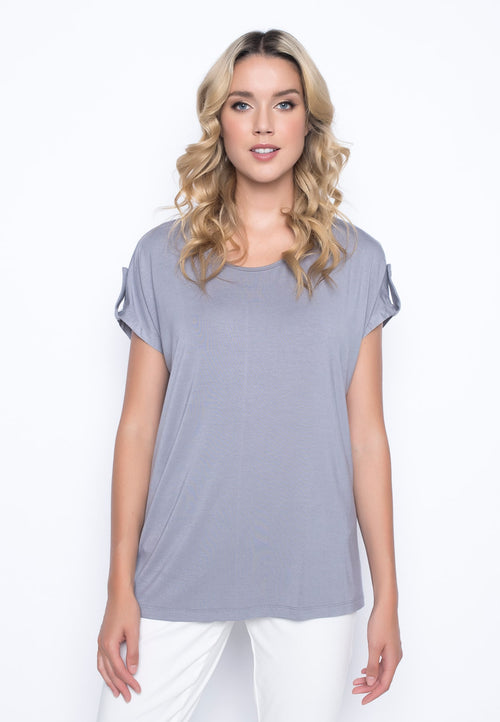 Relaxed Fit Top With Sleeve Tabs by Picadilly Canada