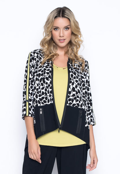Tape Trim Zip-Front Jacket by Picadilly Canada