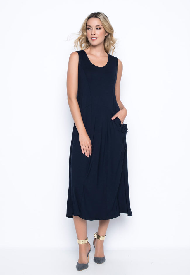1-Pocket Tank Dress in deep navy by picadilly canada