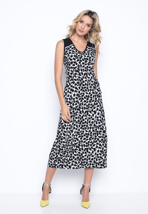 Tape Trim Sleeveless Bubble Dress in Picadilly Canada