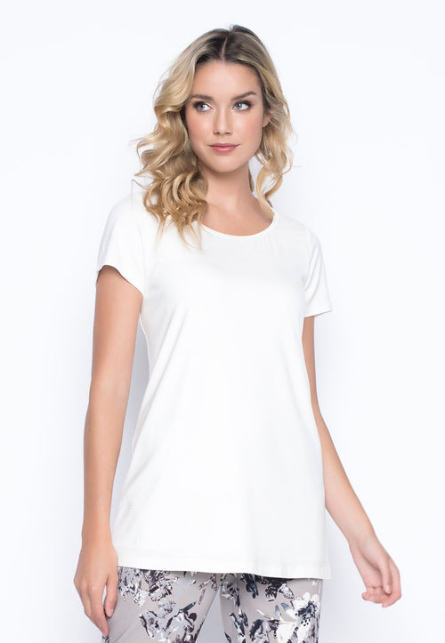 Short Sleeve Crew Neck Top by Picadilly canada