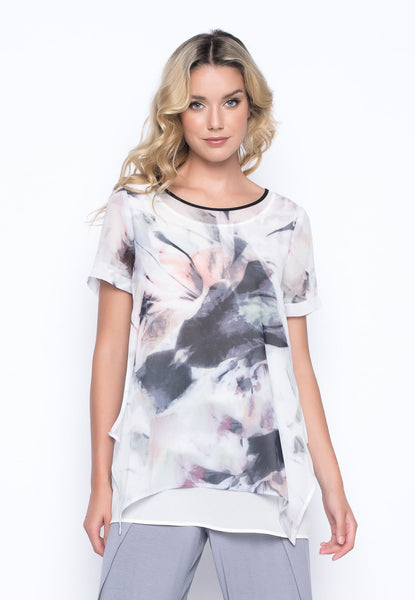 Short Sleeve Flowy Top by Picadilly Canada