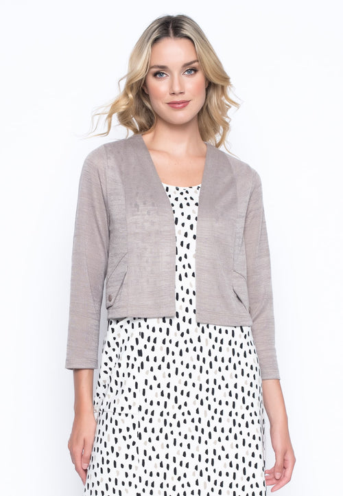 Cropped Jacket With Pocket Flap by Picadilly Canada