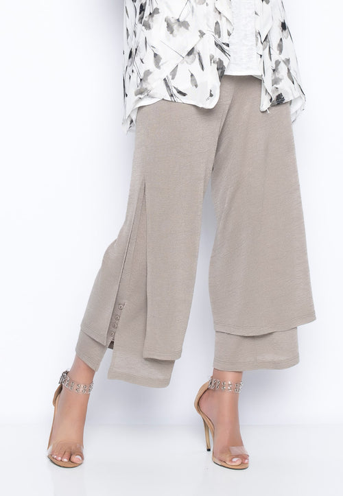Flowy Wrap Front Pants by Picadilly Canada