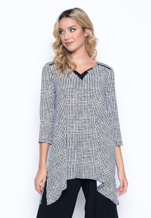 V-Neck Handkerchief Hem Top by Picadilly Canada