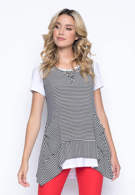 Short Sleeve Flared Dress