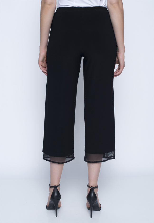 Picadilly Women's Fashion black wide leg trousers
