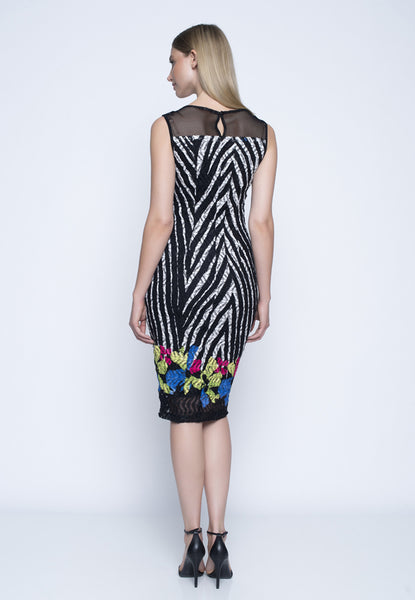 Picadilly sleeveless dress with strap detail
