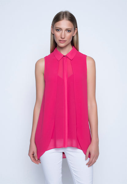 Button Front Draped Top