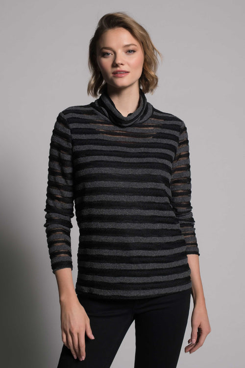 Knit Long Sleeve Turtleneck Top by picadilly canada
