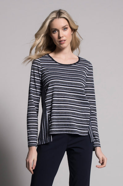 Long Sleeve Top With Front Slits by Picadilly Canada