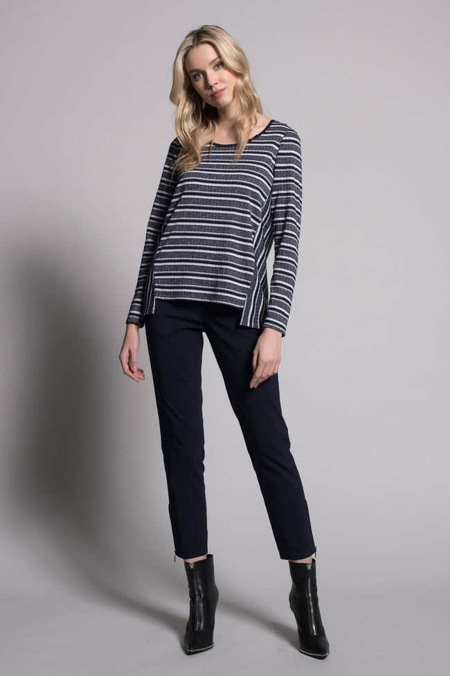 outfit featuring Long Sleeve Top With Front Slits by Picadilly Canada