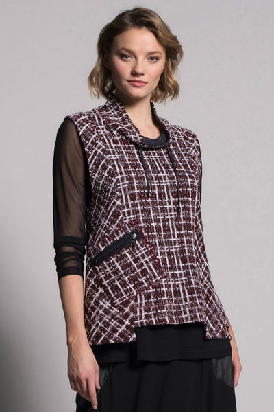 Drawstring Collar Vest With Pocket by picadilly canada