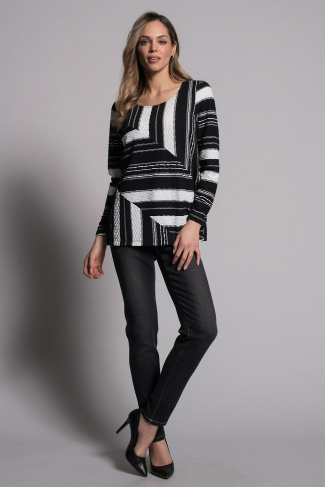 outfit featuring the Long Sleeve Multi Seam Top by picadilly canada