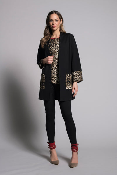 outfit featuring Contrast Trim Open-Front Jacket by picadilly canada