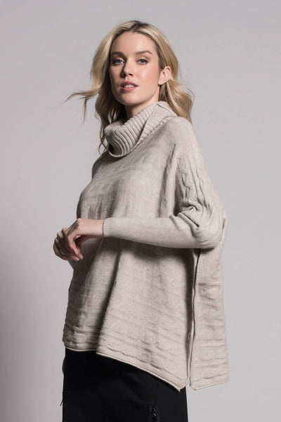 Cable Knit Pattern Sweater Top by Picadilly canada