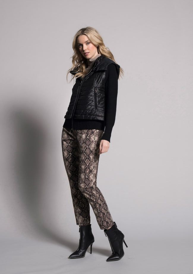 outfit featuring Animal Print Pull-on Straight leg Pants by picadilly canada