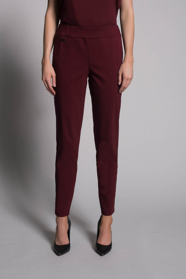 Pull-On Straight Leg Pants in deep navy by Picadilly canada
