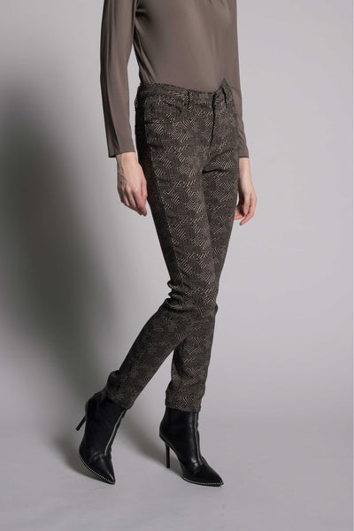 Printed Straight Leg Pants by picadilly canada