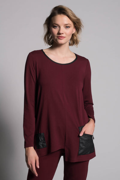 Long Sleeve Top With Pockets by Picadilly canada
