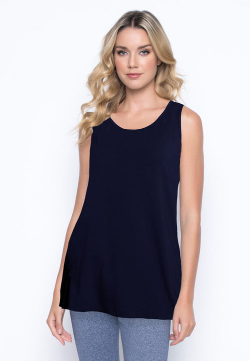 A-Line Tank in deep navy by picadilly canada