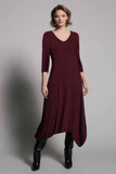 ¾ Sleeve V-Neck Bubble Dress by picadilly canada