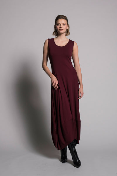 Sleeveless Bubble Dress in bordeaux by Picadilly canada