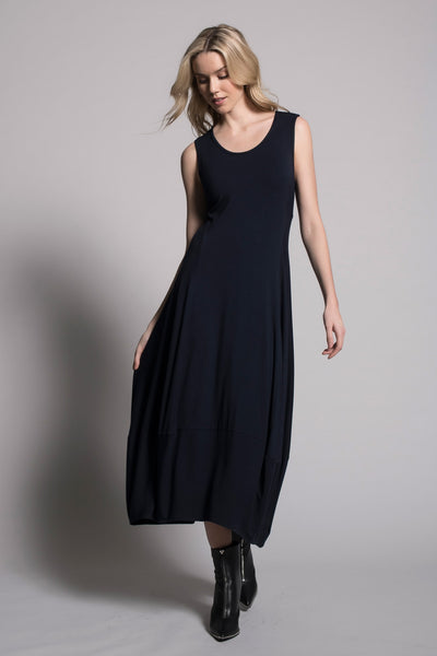 Sleeveless Bubble Dress in deep navy by Picadilly canada