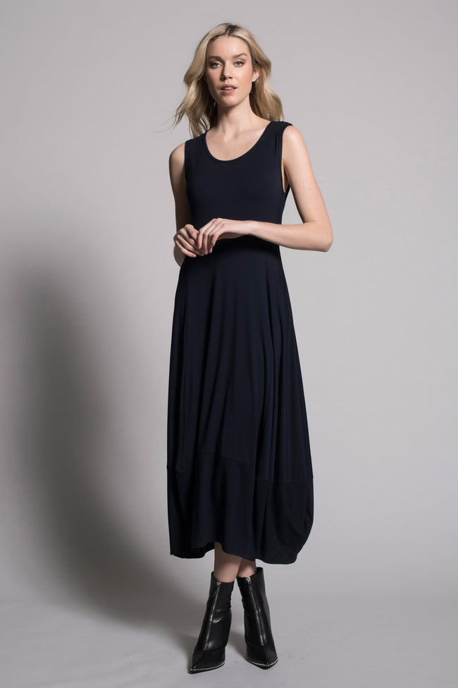 second image Sleeveless Bubble Dress in deep navy by Picadilly canada
