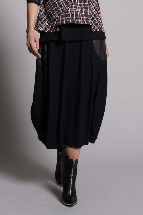 Pull-On Bubble Skirt With Contrast Pockets by picadilly canada