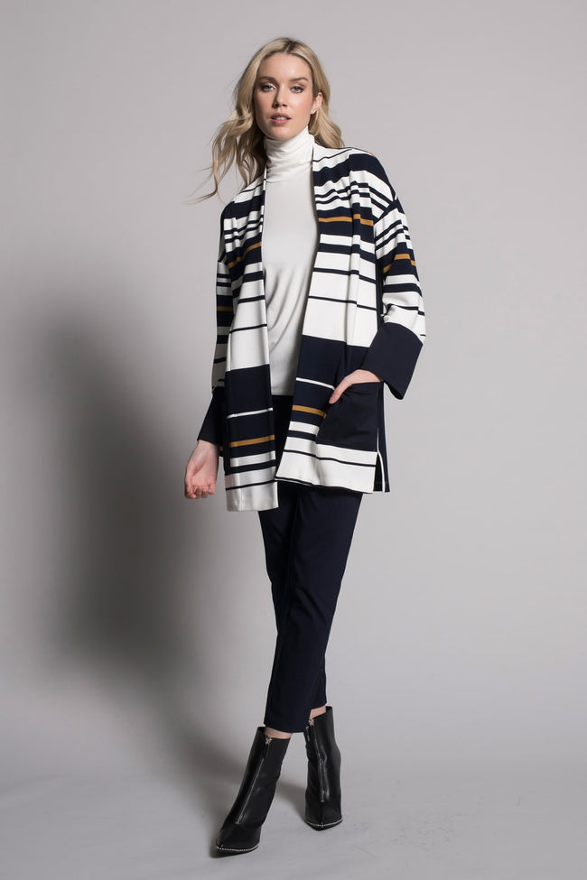 outfit featuring Open-Front Jacket With Pockets by Picadilly Canada