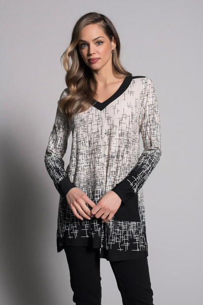 another shot of V-Neck Long Sleeve Top by picadilly canada