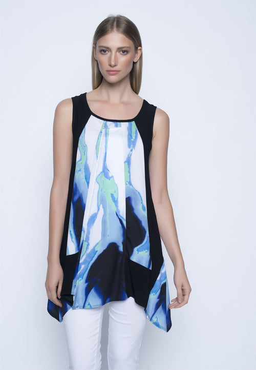 Long Sleeveless Flared Top