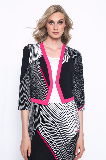 Draped Open-Front Jacket With Pocket