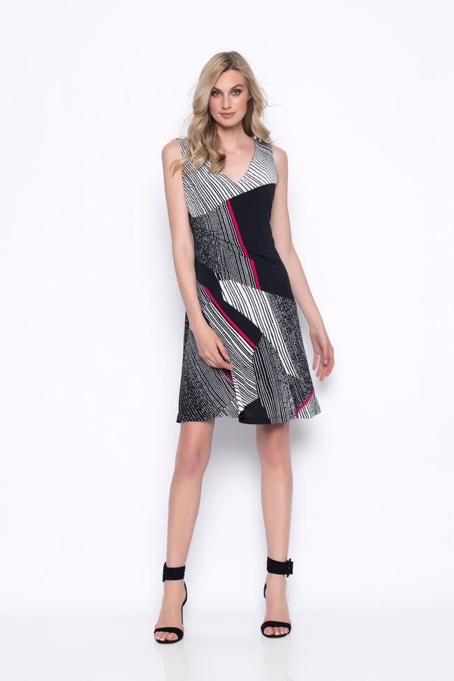 Sleeveless V-Neck Ruched Dress