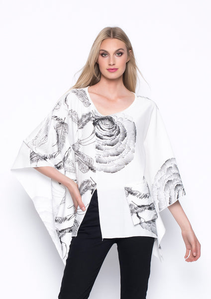 Poncho Style Top With Pocket