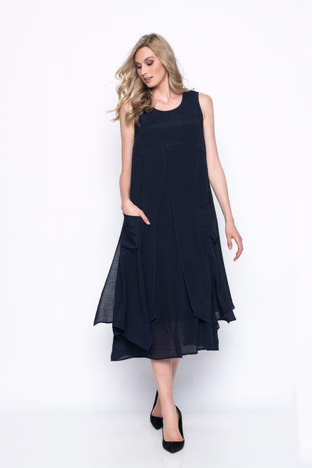 Ruffle-Sleeve Dress