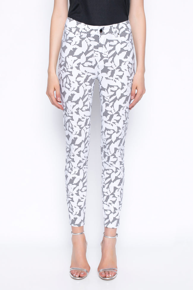 Ankle length pants printed